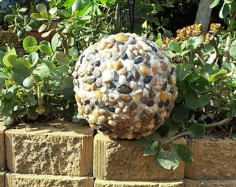 Garden Ball with pebble artwork
