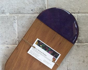 Blackwood  serving board customised with resin artwork