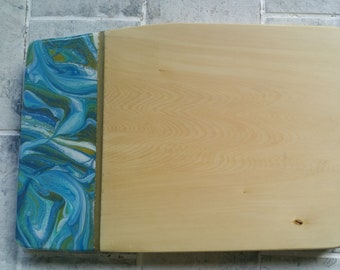 SOLD - Wooden serving board customised with original artwork