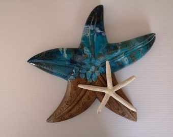 SOLD - Resin and Timber starfish