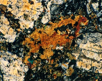 Mineral Thin Section Photography - Digital Prints on Canvas and Paper