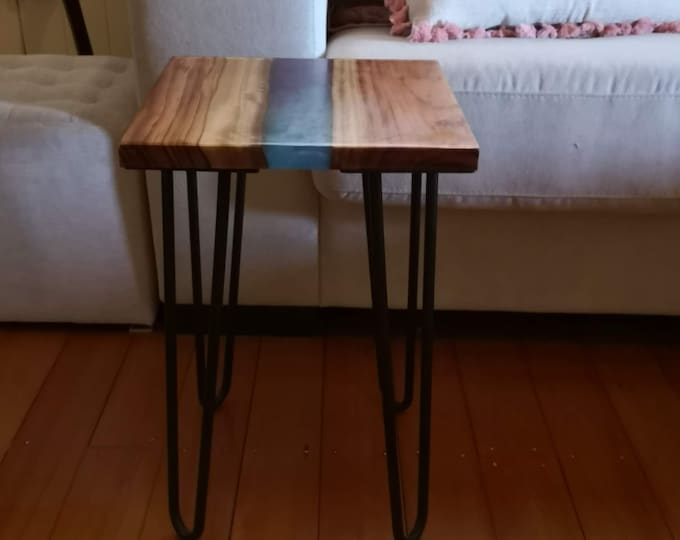 Resin river side table