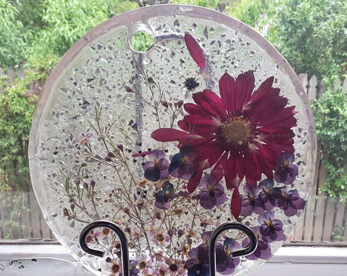 Gerbera and resin table centrepiece
