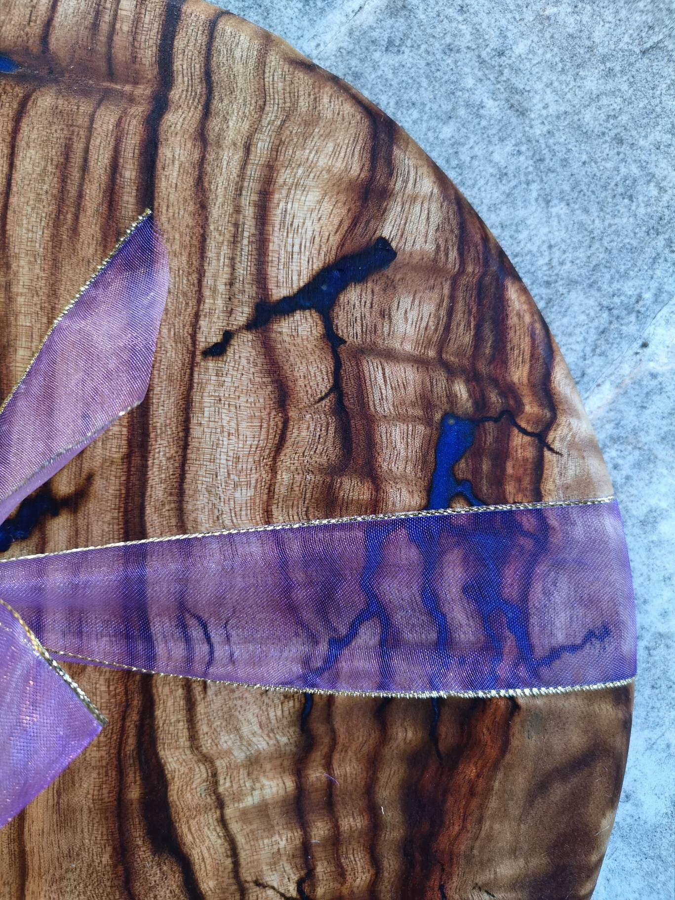 SOLD - Camphour Cheese Board with Lichtenberg Wood Burning