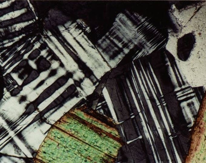 Mineral Thin Section Photography - Digital Prints on Canvas and Paper -  Feldspar and Biotite