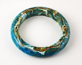 Resin Swirls Bangle; Resin Bangle;Resin Jewelry; Resin Jewellery; Resin