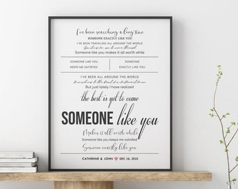 Paper Anniversary Gift Van Morrison Into The Mystic Song Lyrics Valentine/'s Art Print Wedding Gift Grey and Blush