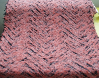 Unique knitted fabric terracotta black