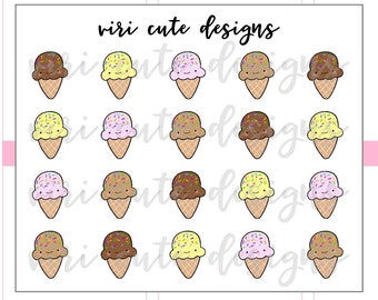 Kawaii Ice Cream Planner Stickers   133