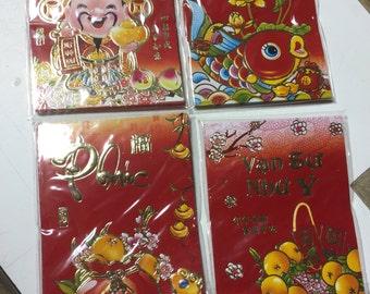 Lunar New Year Red Envelop Assortment 12 pk ( 72 pieces)