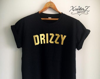 852e679fc15b Gold Drake Shirt Gold DRIZZY T-Shirt Drake T Shirt Drake Drizzy Shirt Top  for Women Girls Men Jersey White Black Grey Red Burgundy Navy