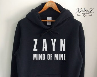 2fb5fe3e Zayn Hoodie Zayn Sweater Mind of Mine Sweatshirt Zayn Fleece Zayn Merch Jumper  Shirt Crewneck Unisex Women Girls Men Black/Grey/Navy XS-2XL