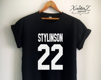 d42b84c47d4 Larry Stylinson Shirt Larry Stylinson T Shirt Stylinson Merch Print on  Front or Back for Women Girls Men Top Tee Jersey Black White Grey Red