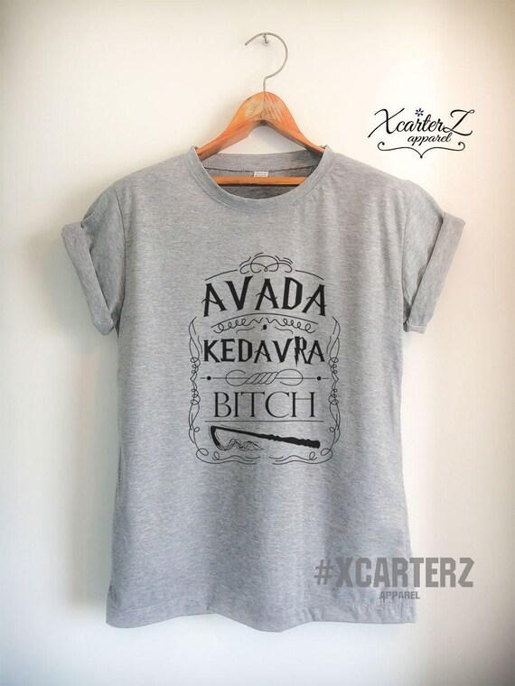 Womens Funny Harry Potter Inspired T-Shirt Hogwarts Avada Kedavra Bitch