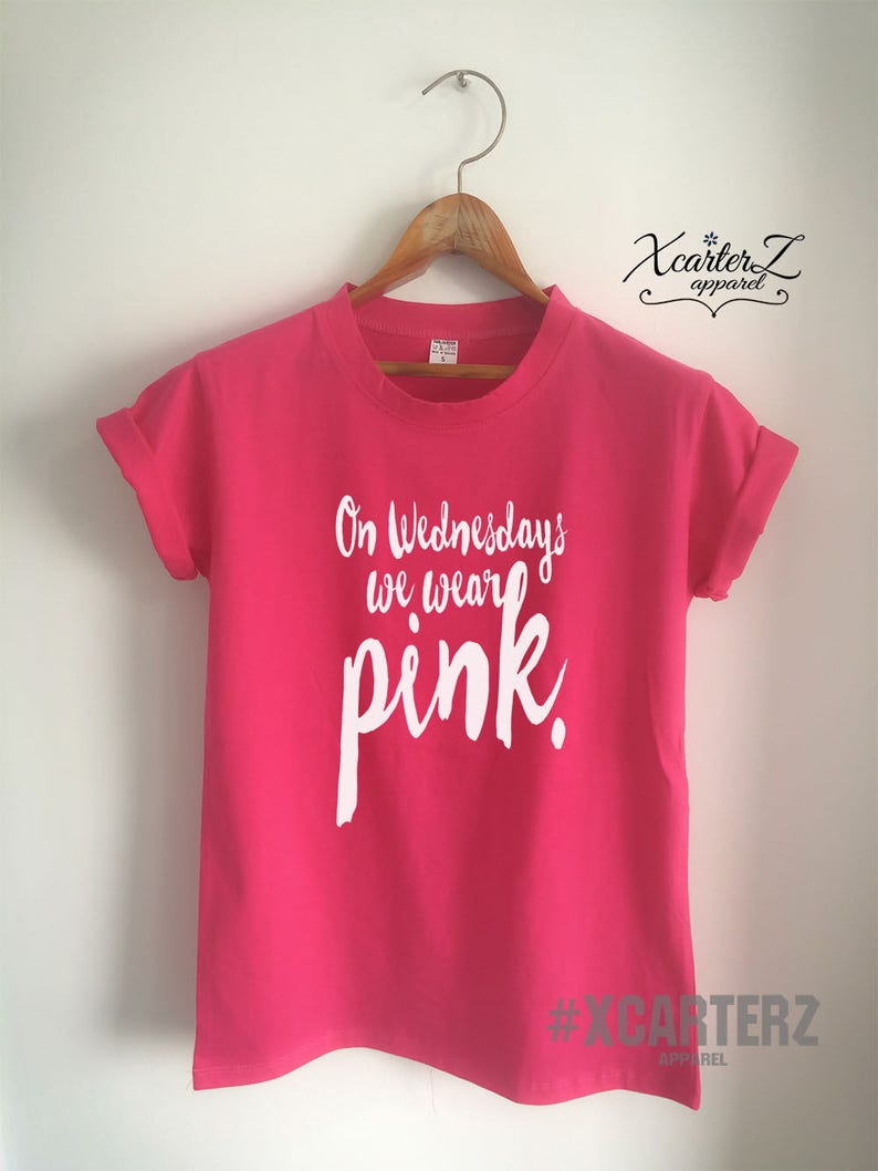 e4f8cb457e6c On Wednesday We Wear Pink Shirt Tumblr Girls Shirt WOMEN MEN | Etsy