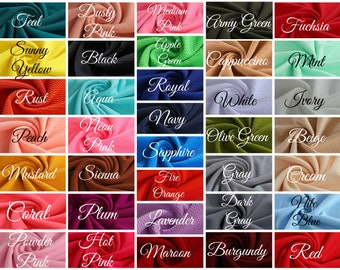 Liverpool Bullet Textured Fabric by the yard 4 Way Stretch Solid - Strip Half Yard Thick Knit Jersey Liverpool Fabric for Bows