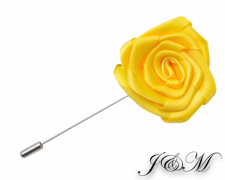 Wedding Boutonniere Yellow Flower Lapel Pin Lapel Pin Lapel Etsy