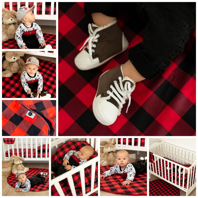 Shopping cart Covers for Baby Toddlers Trolley Seat for Boys and Girls Buffalo Plaid Infants High Chair and Grocery Cover for Babies