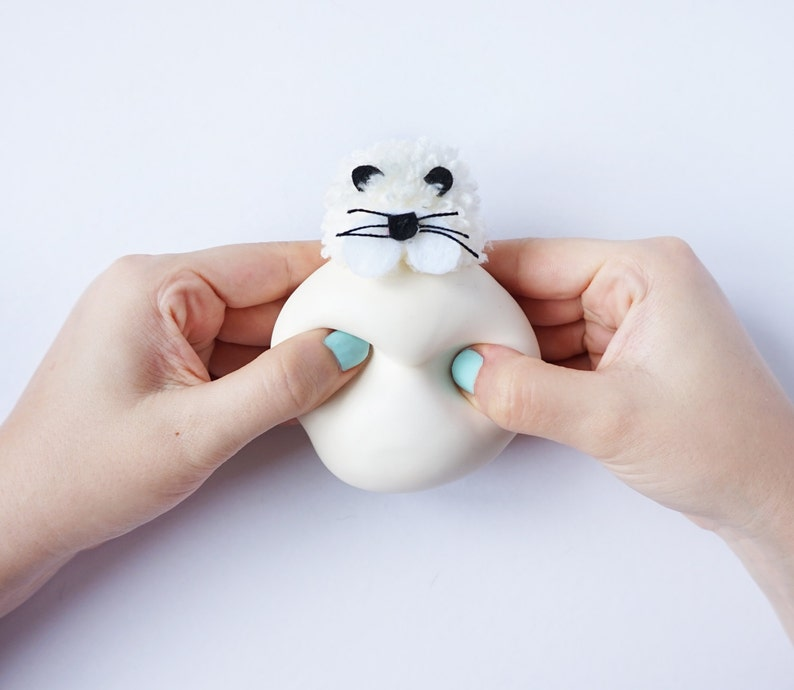 Gift for Kids Stuffed toy Zoo Animal Kawaii Montessori Sea Animals Sensory toy Seal Kids game Stress ball 2pcs Walrus Christmas