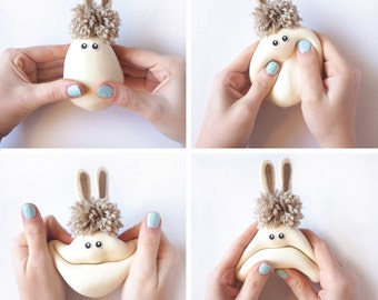 4 pieces bunny, Easter gift