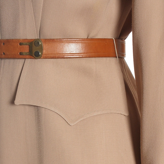 1940s Utility Shirtwaist Dress - image 10