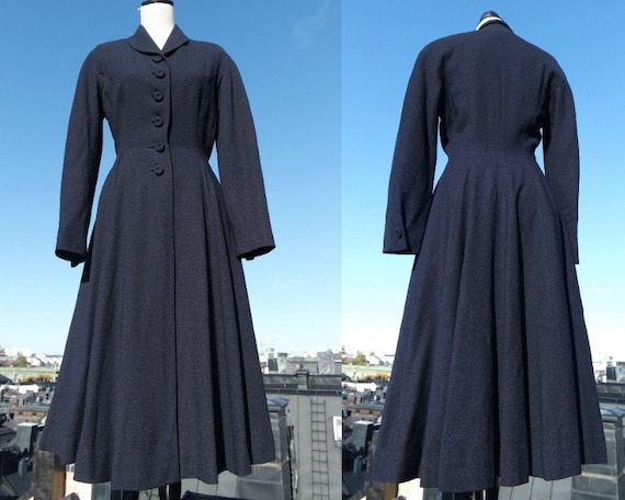 1940s 1950s New Look Navy Midnight Blue Princess C
