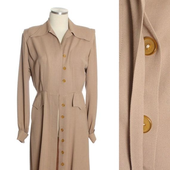 1940s Utility Shirtwaist Dress - image 5