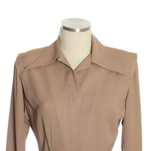 1940s Utility Shirtwaist Dress