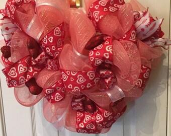 Sweetheart Pink Valentine's Day Wreath