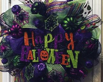 Green and Purple Happy Halloween