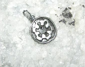 Star Wars Art Button/Pendant Empire OOAK - Handmade 999 Fine Silver