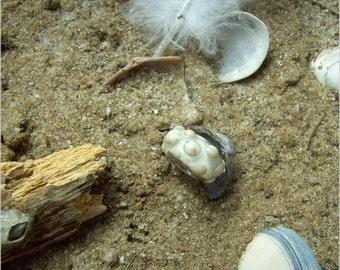 Beach Sand Summer – Glass Handmade Lampwork Eurpean Bead Sterling