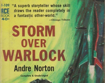 Storm Over Warlock by Andre Norton (Vintage Paperback: Science Fiction, Fantasy) 1960
