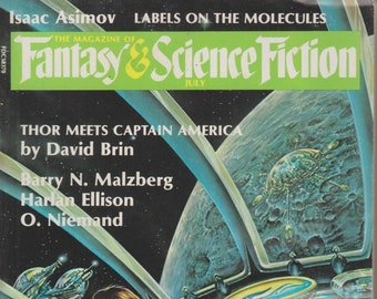 Fantasy & Science Fiction July 1986 Thor Meets Captain America (Magazine: Sci-Fi; Fantasy)