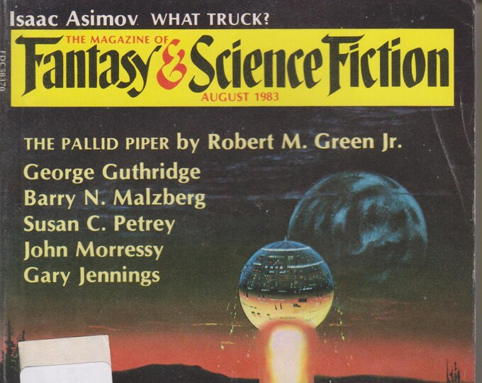 Fantasy & Science Fiction Magazine August 1983 What We Did That Night in the Ruins Cover