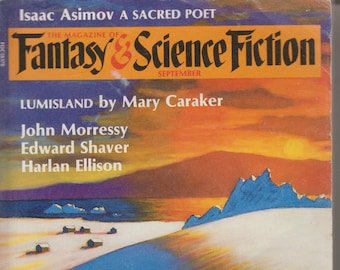 Fantasy & Science Fiction Magazine September 1987 Lumisland Cover (Magazine: Science Fiction, Short Stories)