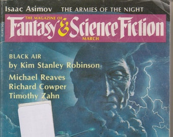 Fantasy & Science Fiction Magazine March 1983 Black Air by Kim Stanley Robinson
