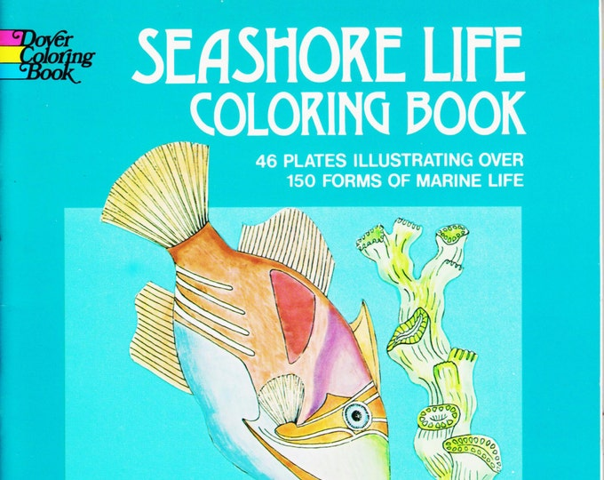 Seashore Life Dover Coloring Book  (Softcover: Children's, Educational) (c) 1973