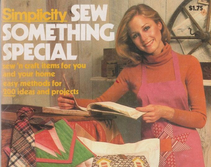 Simplicity Sew Something Special  Easy Methods for 200 Ideas and Projects. (Softcover: Crafts, Sewing) 1977