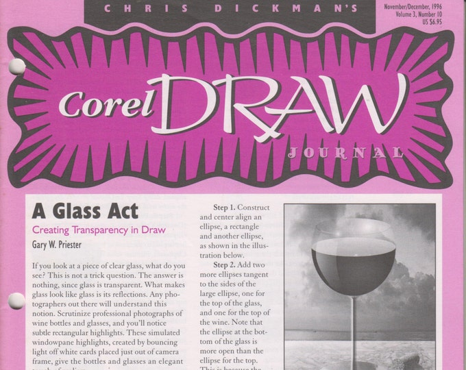 Chris Dickman's Corel Draw Journal November/December 1996 A Glass Act