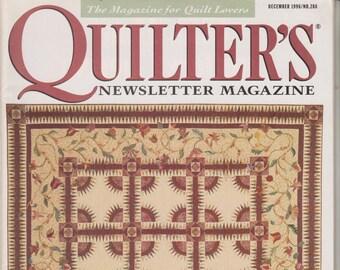 Quilter's Newsletter Magazine - December 1996/No. 288 (Magazine: Quilting)