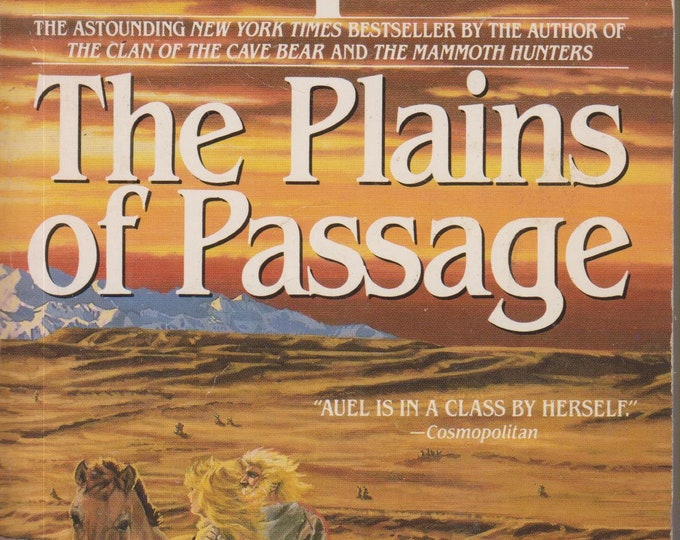 The Plains of Passage by Jean M Auel (Earth's Children) (Paperback, SciFi, Prehistoric Fantasy)  1991