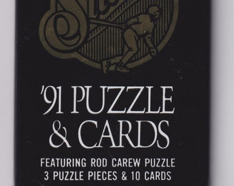 1991 Studio Puzzle & Cards Featuring Rod Carew Puzzle  (Vintage  Baseball Trading Cards)