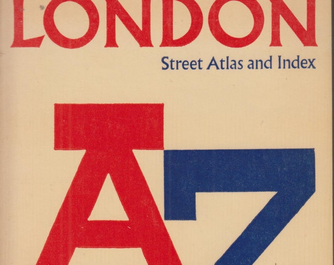 London Street Atlas and Index A Z  (Softcover: Travel, London, England) (cir 60's or 70s)