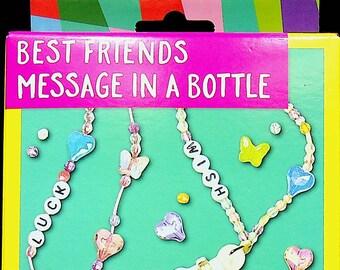 Best Friends Necklace Message  in a Bottle (Children's Crafts, DIY)