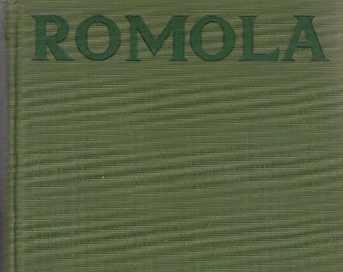 Romola by George Eliot   (Illustrated With Scenes from the 1924 Photoplay (Hardcover: Fiction) circa  1920s