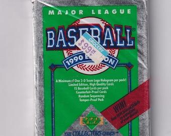 1990 Upper Deck Collector's Choice Major League Baseball Cards - Unopened 15 Baseball Cards  (Vintage  Baseball Trading Cards)
