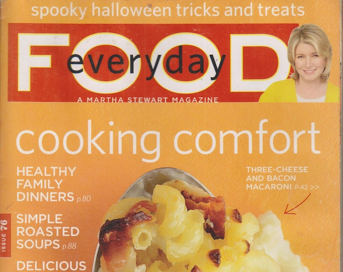 Martha Stewart Everyday Food October 2010 Cooking Comfort (Magazine, Cooking) 2010