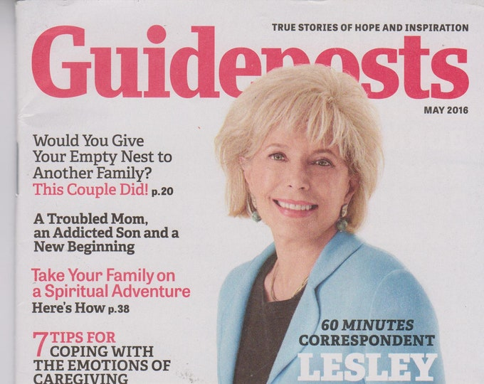 Guideposts May 2016 Lesley Stahl Why Grandparents Matter (Magazine, Inspirational)