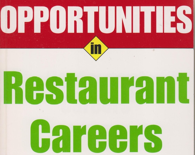 Opportunities in Restaurant Careers (Softcover: Business)